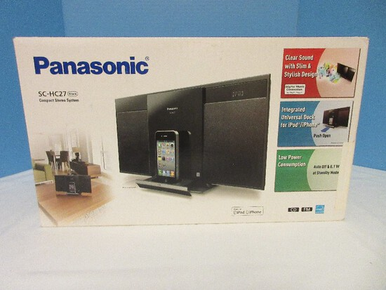 Panasonic SC-HC27 Compact Stereo System Black Made for IPod/IPhone
