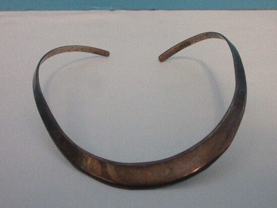 Stamped Mexico Sterling 925 Classic Design Choker Necklace