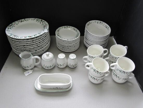 Royal Seasons Stoneware Holly Trim Ceramic Lot