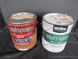 Valspar Solid Natural Base & Bekr Premium Solid Color Water Proofing Stain & Sealer
