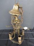 4 Light Hanging Brass Hanging Light Ornate Design
