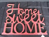 Home Sweet Home Red Wall Mounted Wooden Décor