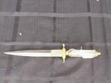 Pakistan Steel Knife/Letter Opener Clear Handle Brass Hilt