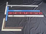 Lot - Vintage Metal Measuring Sticks, Hayes Brothers, Johnson, Level Finder, Etc.