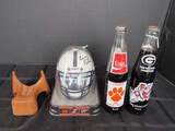 Lot - Mini Helmet Signed by Bobby Bowden & Tommy Bowden, Vintage Kicking Tee