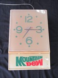 New Dimension Clock Mountain Dew 110V Code No. MI-1176, Mat May 2, 1979
