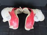 Vintage Spalding 68-287 Red/Clear Football Shoulder Guards