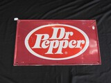 Metal Red Dr. Pepper Wall Mounted Advertising Sign