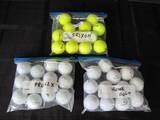 Golf Balls Lot -Titleist Pro V1X, Callaway Chrome Soft, Srixon Yellow,