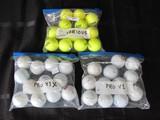 Golf Balls Lot - Titleist Pro V1, Titleist Pro V1X, Various Yellow