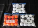 Golf Balls Lot - Srixon Z-Star, Snell MTB, Various Orange