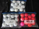 Golf Balls Lot - Titleist Pro V1, Titleist AVX, Various Red