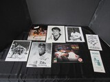Lot - Tim Naehring, Signed Hockey Picture, Basketball Picture, Baseball Magazine, Etc.