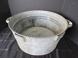 Vintage G&P.F Cream Only No.2 Large Metal Mixing Tub w/ Handles
