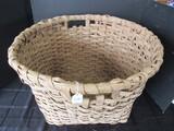 Wooden Lattice Design Vintage Basket