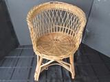 Wooden Vintage Lattice Design Child's Chair w/ Stretcher