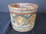 Vintage Asian Motif/Design Pottery Vase w/ Asian Lettering on Base