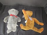 Ganz Cottage Collectibles Brown Teddy bear & Tippy Grey Teddy Bear