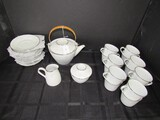 Noritake Japan Casablanca 6842 Ceramic Lot - Raised Hand Painted Floral Trim