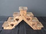 Wooden 7 Step Décor Stand Heart Motif
