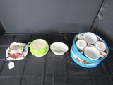 Misc. Lot - Lenox Porcelain Believe Dish, Aniaro-Italy Pitcher & Ashtray, Holiday Cup