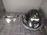 KBC TK-410 Pot Black Motorcycle Helmet w/ Face Guard