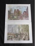 Pair - Paris Les Quais Et Notre Dame & Pont Alexandre III Et Tour Eiffel Prints