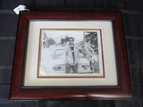 Black/White Picture Photograph Print in Red Wood Frame/Matt