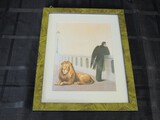 Homesickness 1940 by Rene Magritte Picture Print in Green Wood Frame/Matt
