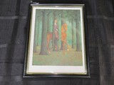 The Blank Signature 1965 by Rene Magritte Picture Print in Black Plastic Frame/Matt