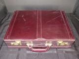 Vintage Lucas Top Grain Leather Travel Business Suitcase