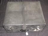 Large Vintage Black Luggage Suitcase Black Metal Corners