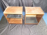 Wooden Pair - Side Stands/Organizers 2-Tier on Casters