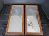 Mirrored/Vase w/ Flower Etched Wall Décor Wood Framed/Metal by Randolph DuFord