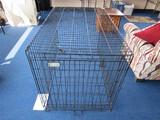 Black Metal Wire Frame Dog Cage