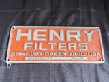 Henry Fillers Bowling Green Ohio US Metal Vintage Plate