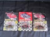 3 Nascar Die Cast Toy Cars Rusty Wallace, Joe Nemechek, Chad Little