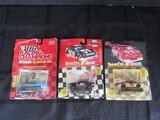 3 Nascar Die Cast Toy Cars Richard Petty, Jeremy Mayfield, Todd Bodine