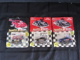 3 Nascar Die Cast Toy Cars Ted Musgrave, Bobby Hamilton, Butch Mock Motorsports