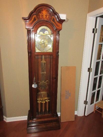Grandiose Sleigh Mahogany Grand Father Clock