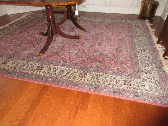 Magnificent Persian Style Design Traditional Area Rug Mauve Color w/ Fringe