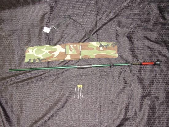 Blowgun Survival Weapon Green Metal w/ 3 Darts in Bag