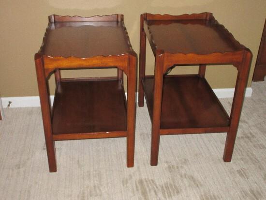 Pair - Stickley International Furniture LTD Medium Mahogany Depression Era Style