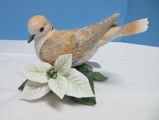"2 Lenox Garden Bird Collection Fine Porcelain Turtle Dove 3 1/4"" Figurine"