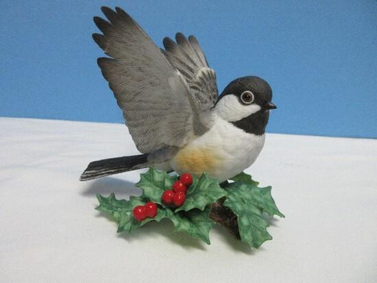 "Lenox Garden Bird Collection Fine Porcelain Male Chickadee 3 5/8"" Figurine"
