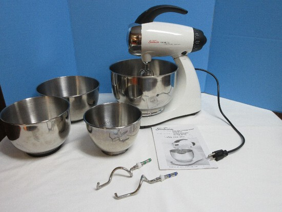 Sunbeam Mixmaster Heritage Series Stand Mixer Loaded w/ Features