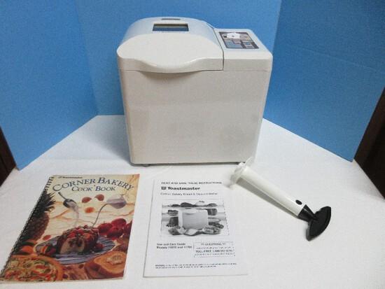 Toastmaster Corner Bakery Bread & Dessert Maker w/ Cook Book & User Guide