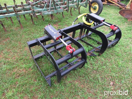"""72"""" hydraulic grapple rake (unused)"""