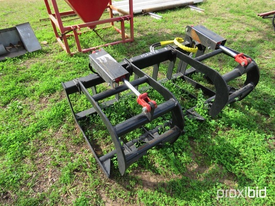 "66"" haydraulic grapple rake (unused)"