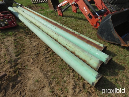 """(4) 8"""" steel pipes"""